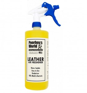 POORBOY'S WORLD AIR FRESHENER - LEATHER 946ML